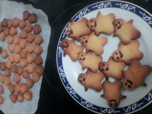 ハートと人形クッキー
